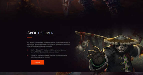 Box worldpandaria game portal premium moto cms 3 template 64196 original