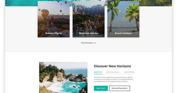 Box wonder tour travel agency multipage html website template 58200 original