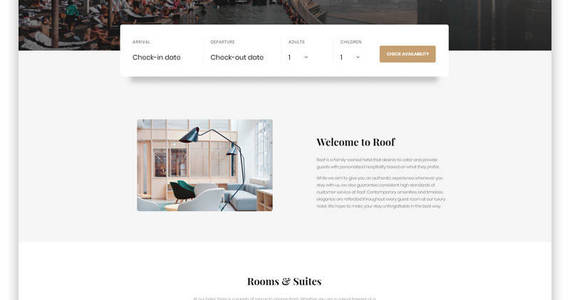 Box roof hotel multipage clean bootstrap html5 website template 61342 original