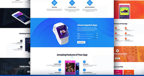 Box appriori multipurpose mobile app landing page template 66377 original