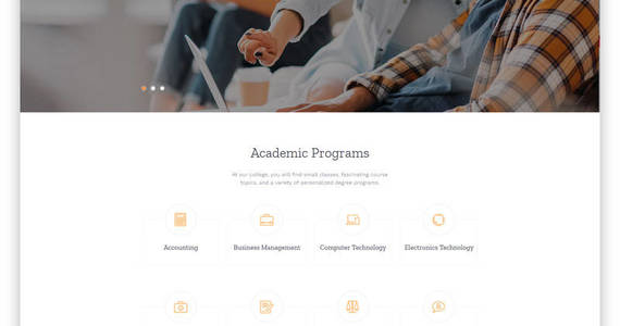 Box bradstone college colleges  universities multipage clean html website template 61185 original
