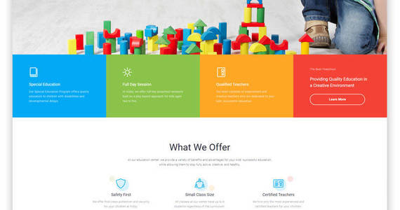 Box kidsy learning center multipage clean html5 website template 46779 original