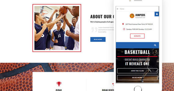 Box basketball responsive joomla template 64777 original