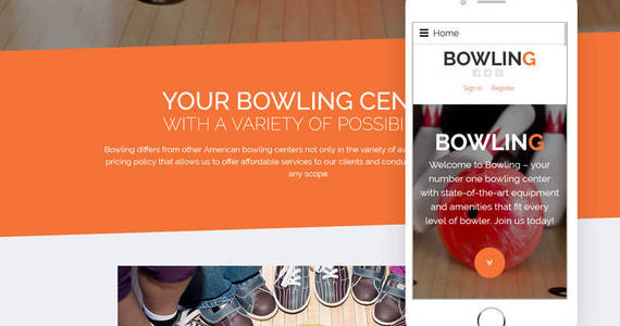 Box bowling joomla template 60034 original