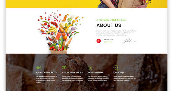 Box grocmart grocery store multipage classic html website template 47684 original