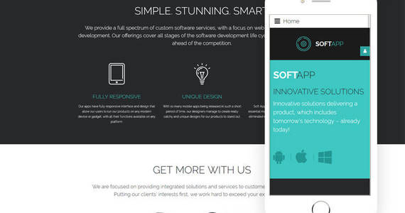 Box softapp software company responsive joomla template 62069 original