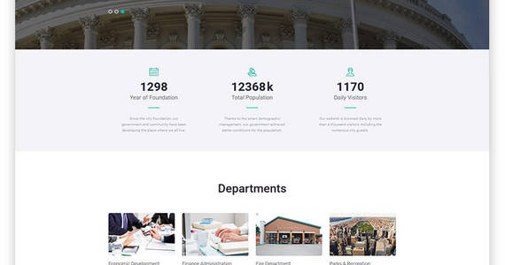 Box goverfree government multipage clean html website template 48697 original