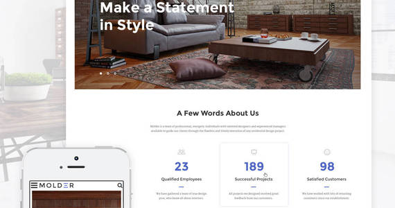 Box molder interior design website template 64844 original