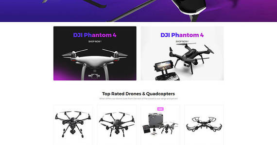 Box moox drone store motocms ecommerce template 65052 original
