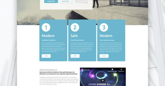 Box architectural finish wordpress theme 53370 original