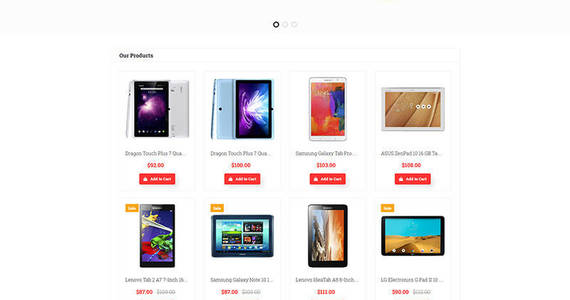 Box electronics store responsive motocms ecommerce template 65056 original