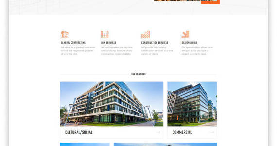 Box quality group construction company clean multipage html5 website template 47125 original