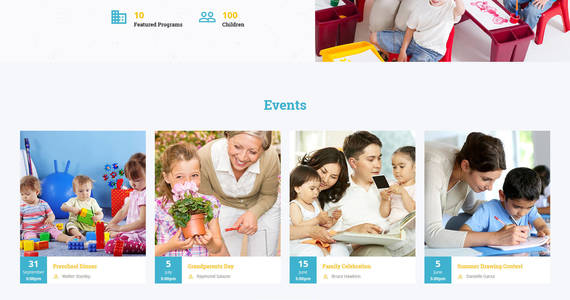 Box kids tree elementary school clean html bootstrap website template 61183 original