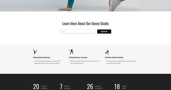 Box dance studio responsive moto cms 3 template 59503 original