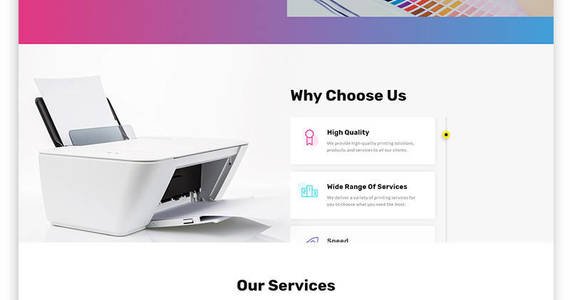 Box print house print shop multipage modern html website template 51780 original