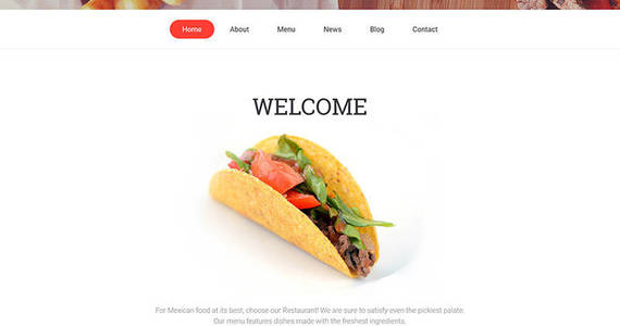 Box mexican restaurant responsive moto cms 3 template 59423 original