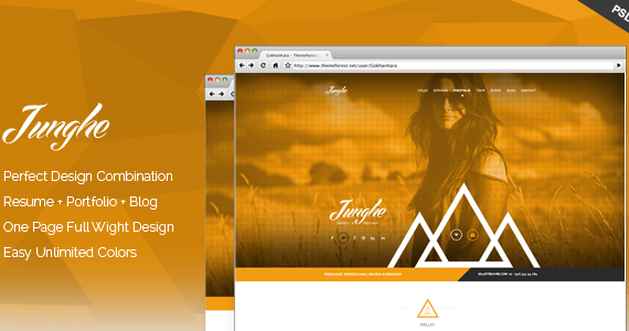 Box 01 junghe onepage portfolio theme screen.  large preview