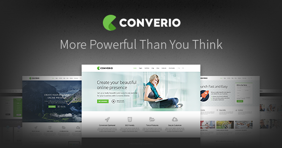 Box converio responsive multipurpose wordpress theme.  large preview