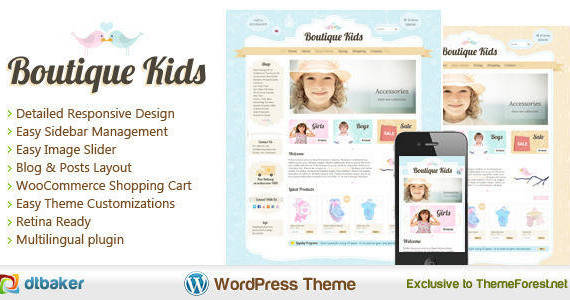 Box 1.creative kids boutique clothing store shop woocommerce theme.  large preview