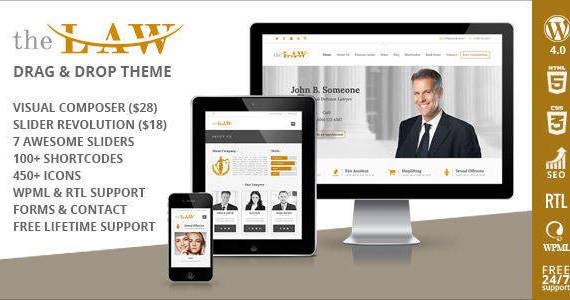 Box the law lawyer legal attorney wordpress theme drag drop 1.  large preview
