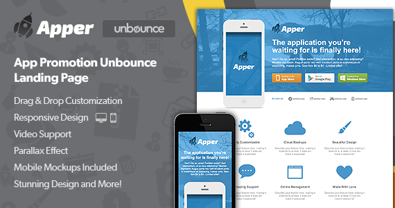 Box 01 apper unbounce landing page preview.  large preview