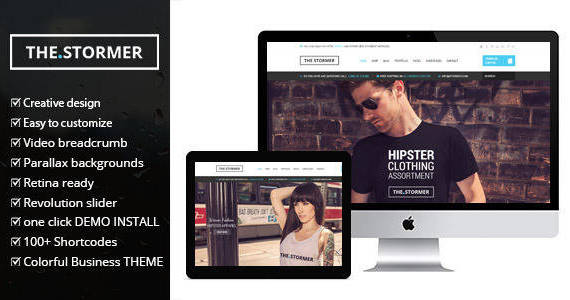 Box stormer wordpress theme featured.  large preview
