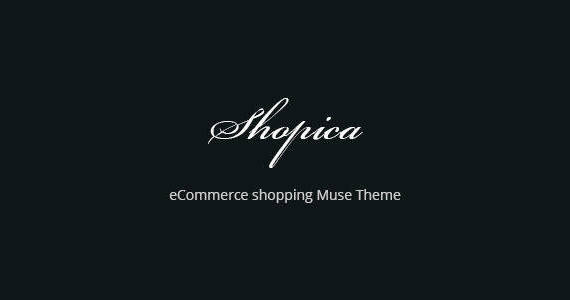 Box shopica ecommerce shopping website template muse theme.  large preview