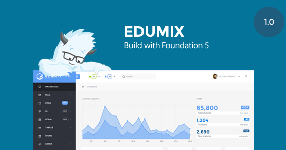 Box 01 edumix foundation zurb admin dashboard preview.  large preview