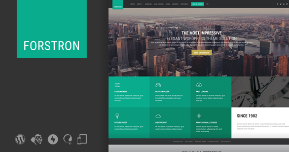 Box 01 forstron legal business wordpress theme.  large preview