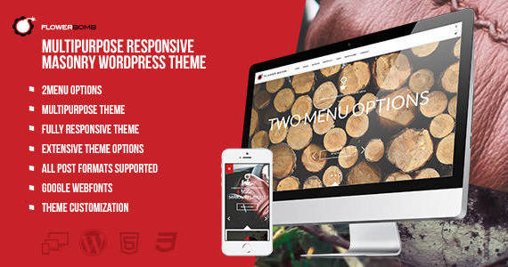 Box 01 flowerbomb multipurpose responsive masonry theme preview.  large preview