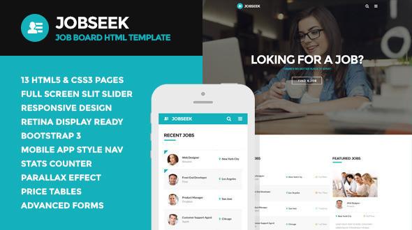 job seek html template  Jobseek - Job Board HTML Template | Themestack.net