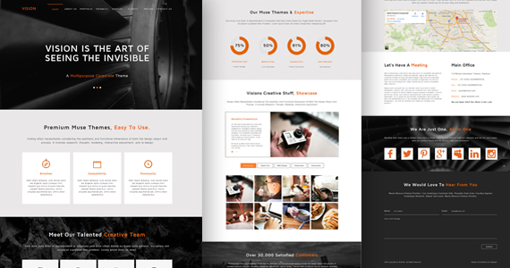Box vision creative portfolio theme preview.  large preview
